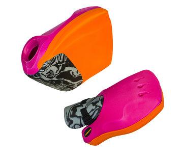 Obo ROBO Hi-Rebound Handprotector set Oranje/Roze
