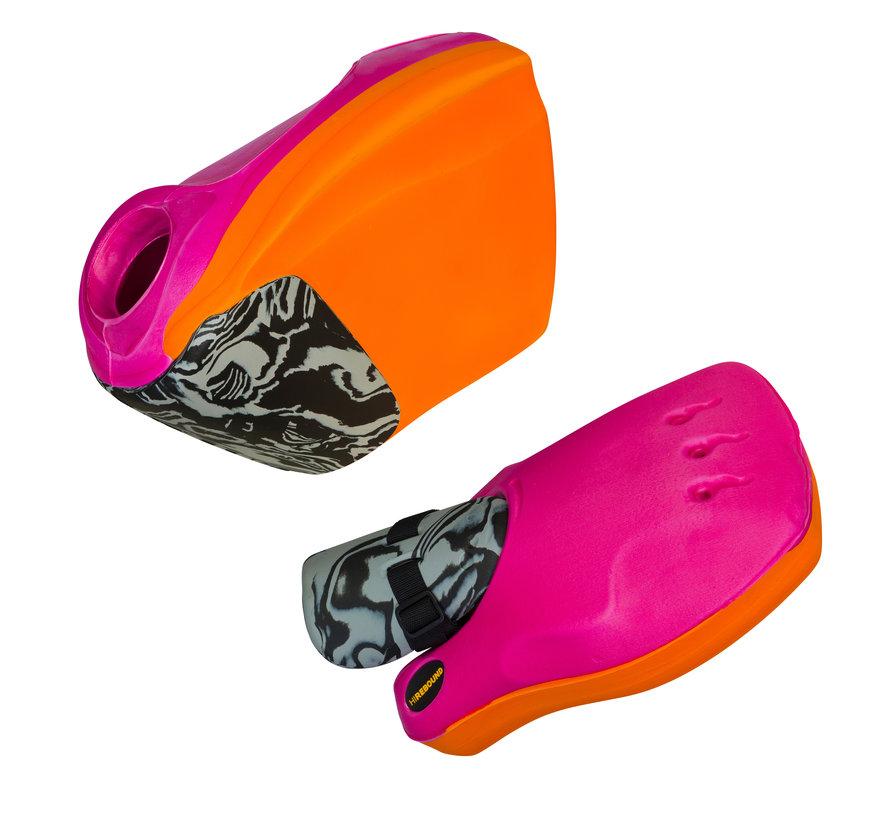 ROBO Hi-Rebound Handprotector set Oranje/Roze