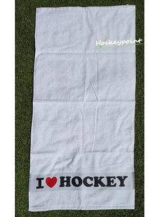 Hingly I Love Hockey Handdoek Wit