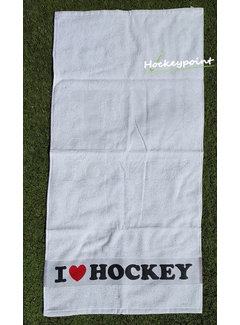 Hingly I Love Hockey Towel White
