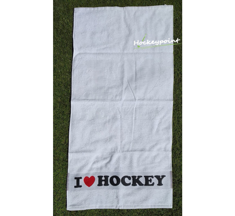 I Love Hockey Handdoek Wit