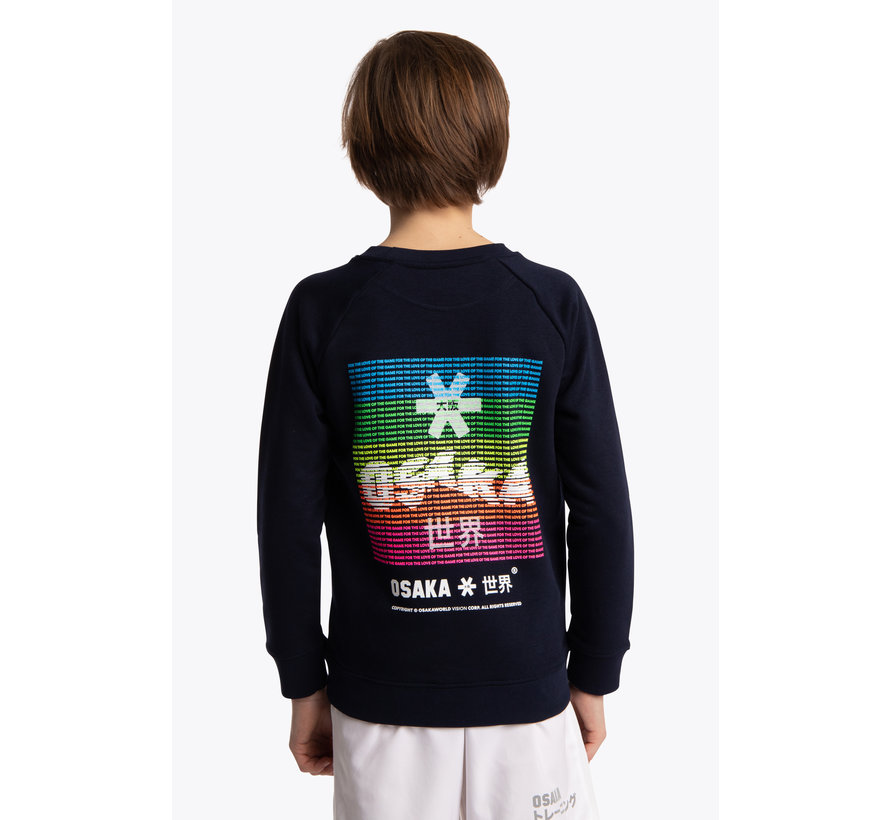 Deshi Sweater Warpy - Navy Melange