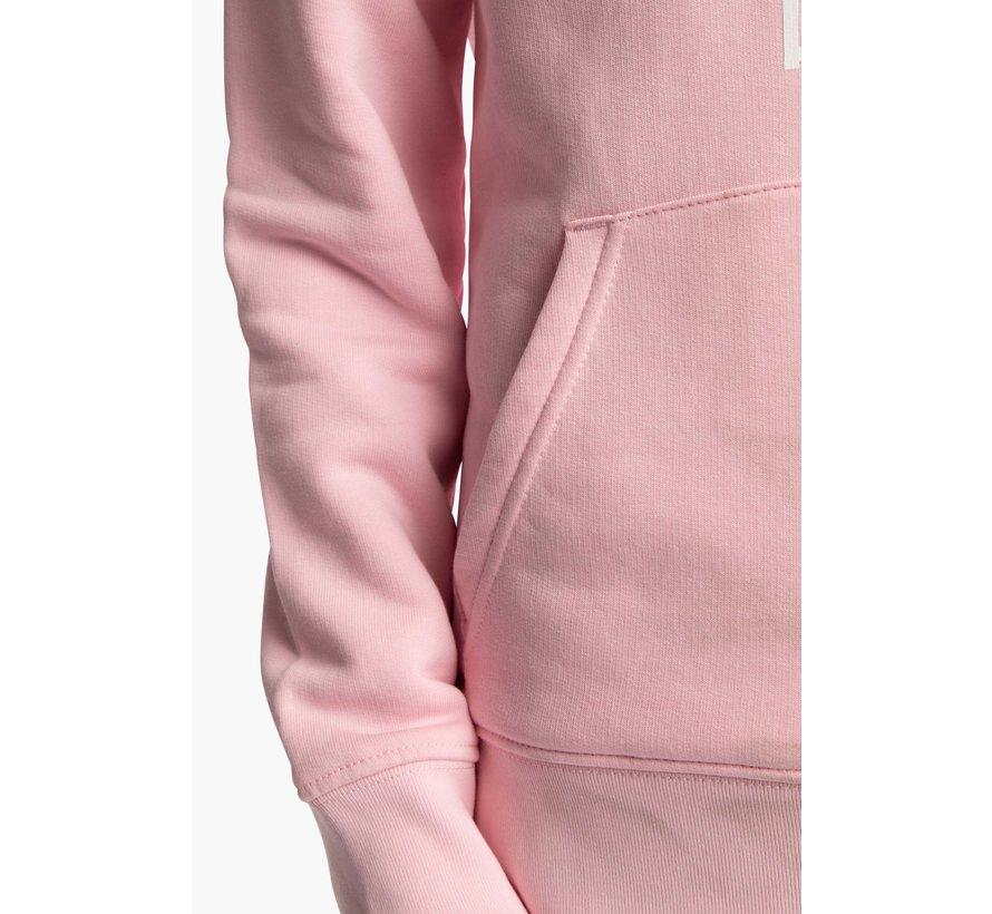 Deshi Hoodie White Star - Cotton Pink