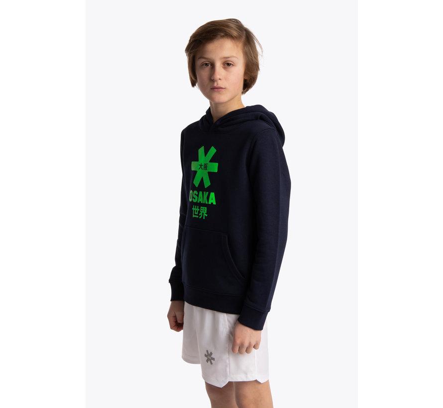 Deshi Hoodie Green Star - Navy Melange