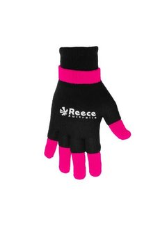 Reece Knitted Ultra Grip Handschuh 2 in 1 Schwarz/Rosa