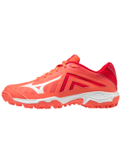 Mizuno WAVE LYNX JUNIOR-HotCoral/White/Lollipop