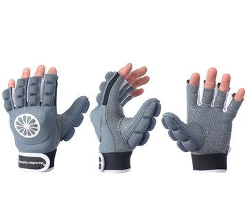 Indian Maharadja Glove shell/foam half finger Denim [left]
