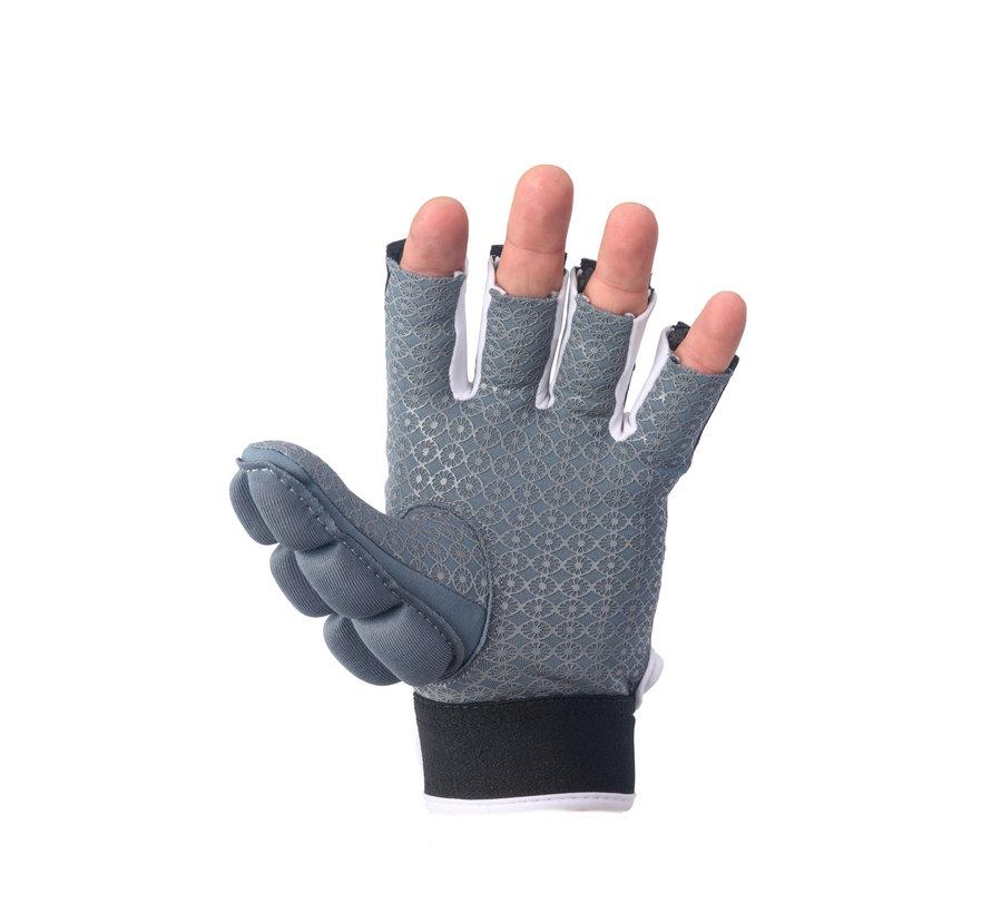 Handschoen shell/foam halve vingers Denim [links]