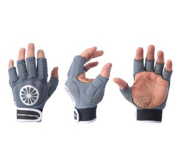 Indian Maharadja Handschoen shell halve vingers Denim [links]