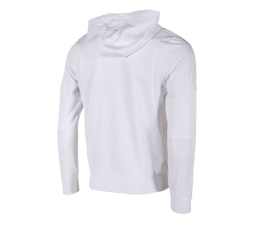 Cleve TTS Hooded Sweat Full Zip Unisex White