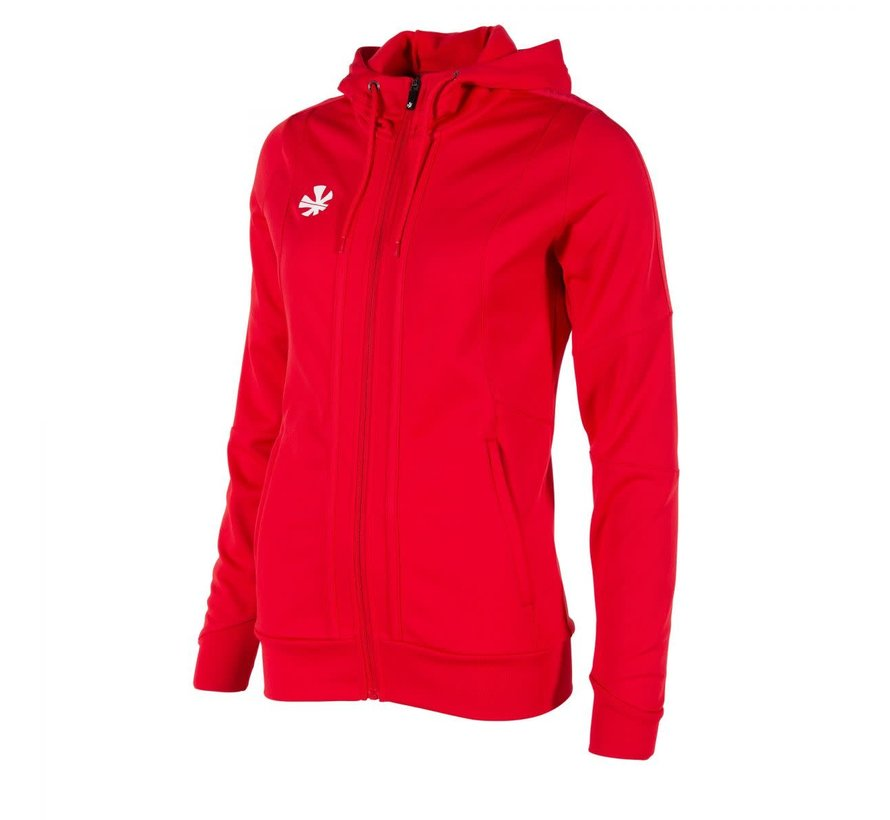 Cleve TTS Hooded Sweat Full Zip Ladies Red