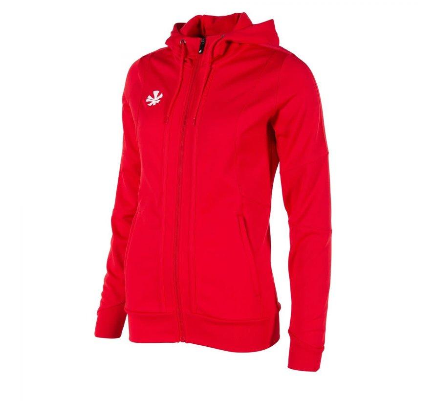 Cleve TTS Hooded Sweat Full Zip Ladies Rot
