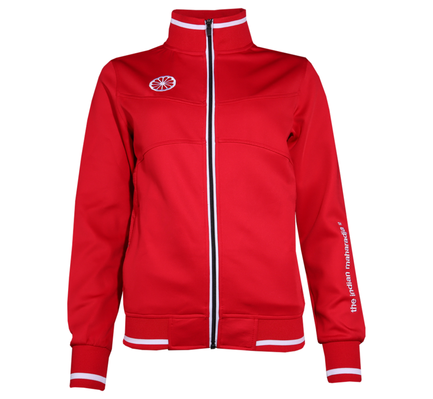 Womens Knitted Tech Jacket Red