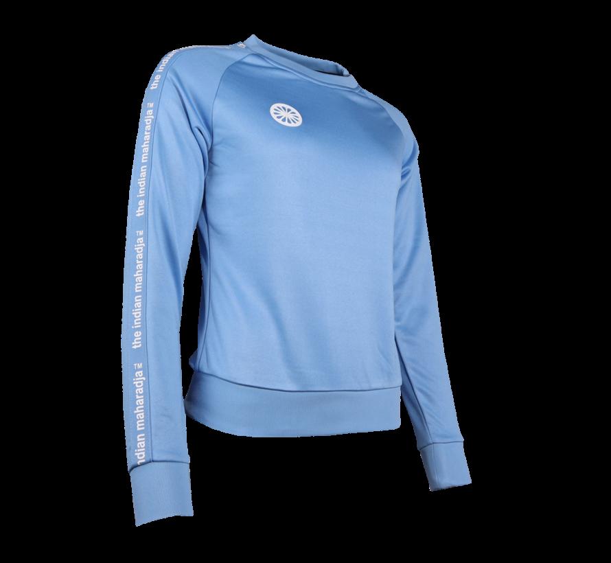 Women Sweater Poly Terry Blau