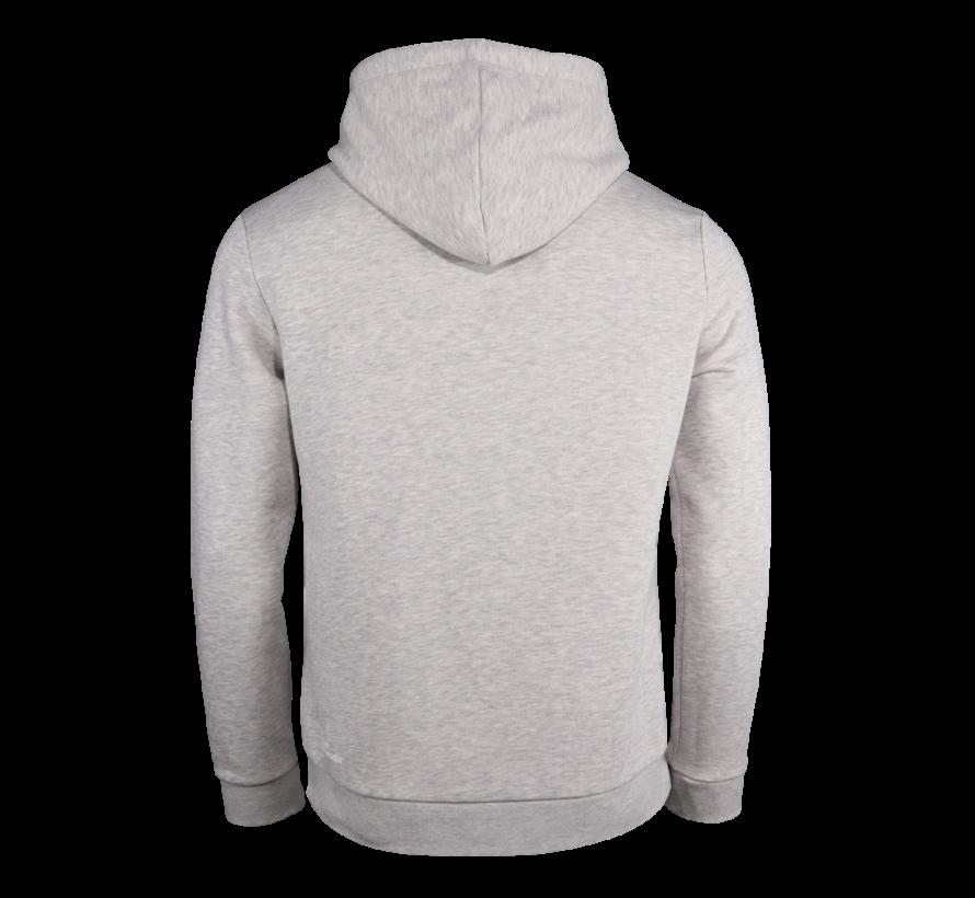 Herren Hooded Sweat Stretch Logo Grau Melange