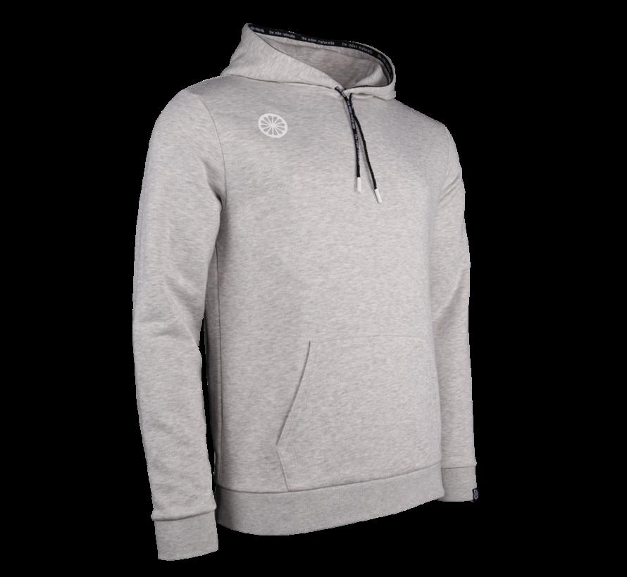 Heren Hooded Sweat Stretch Logo Grey Melange