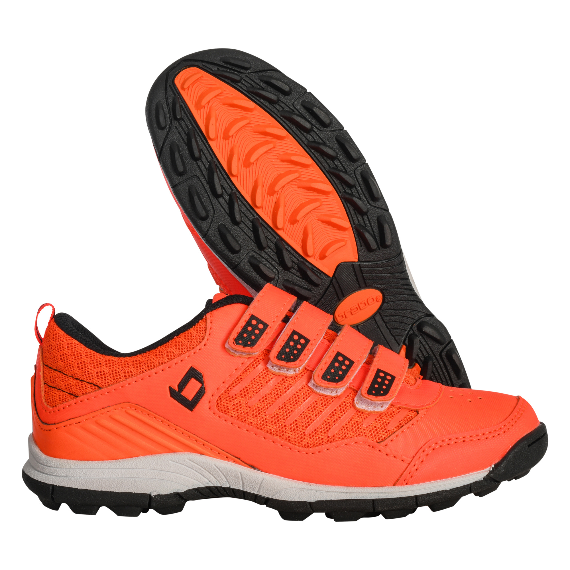 Brabo Hockey shoes velcro Orange