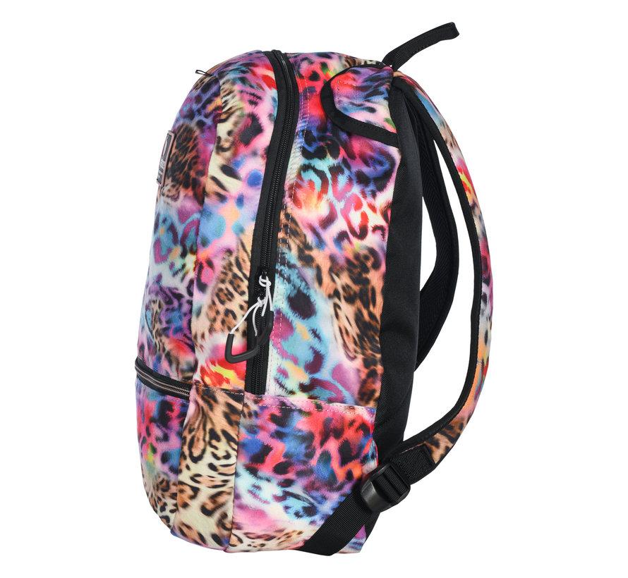 Rucksack FUN Leopard Rainbow
