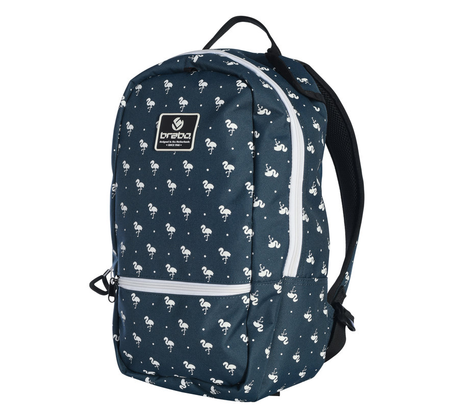 Backpack FUN Flamingo Navy/White