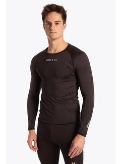 Osaka Baselayer top Herren Schwarz