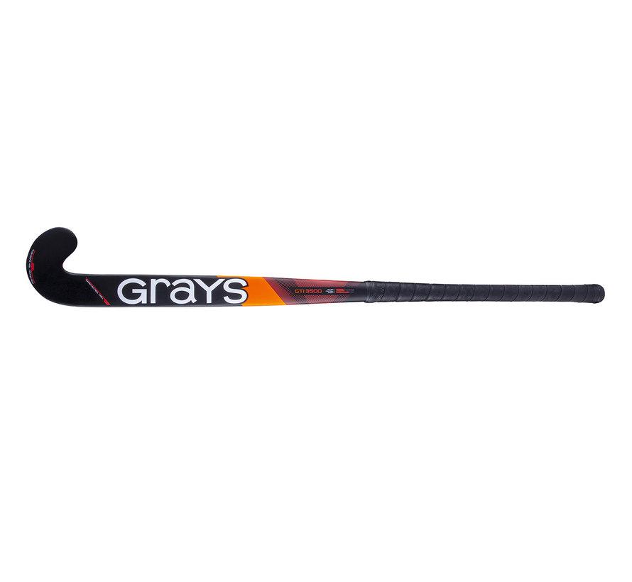 GTI3500 DB zaalhockeystick Zwart/Rood