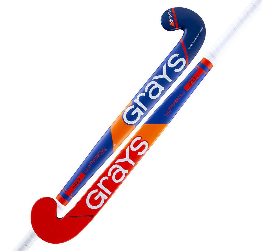 400i zaalhockeystick UB MC Kobalt/Neon Rood