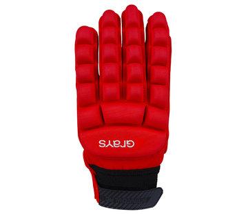 Grays International Pro Hallen-Handschuh  Neon Rot LH
