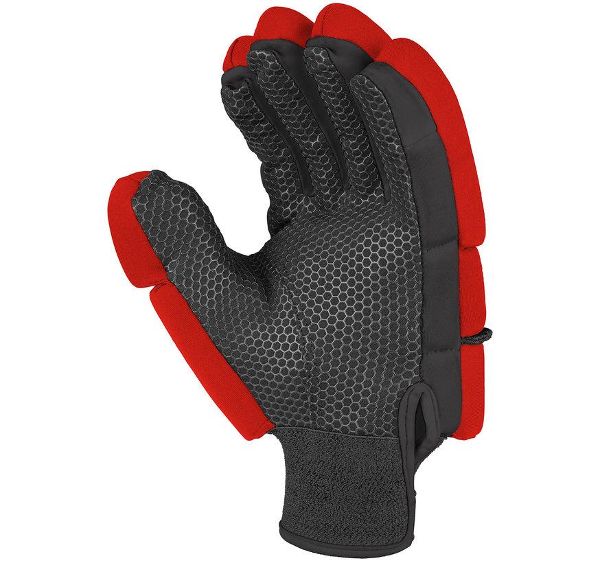 PROFLEX 1000 zaal/strafcorner-handschoen Neon Rood/Zwart LH