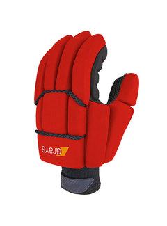 Grays PROFLEX 1000 zaal/strafcorner-handschoen Neon Rood/Zwart LH