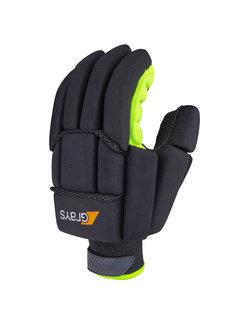 Grays PROFLEX 1000 zaal/strafcorner-handschoen Zwart/Neon Geel LH