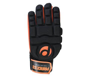 Princess hockey zaalhandschoen Full Finger Comp. Zwart/Oranje
