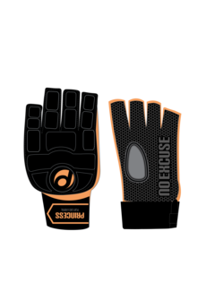 Princess hockey glove Classic w/o Thumb Black/Orange
