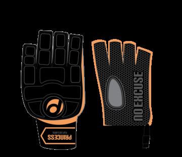 Princess hockey handschoen Classic zonder duim  zwart/oranje