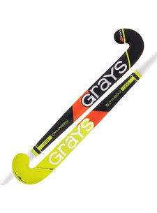 Grays 500i zaalhockeystick DB MC Zwart/Neon Lime