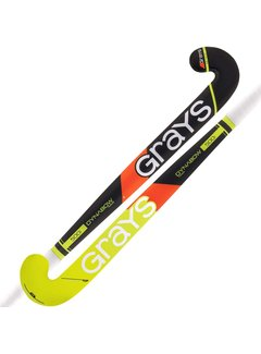 Grays 500i zaalhockeystick DB MC Zwart/Neon Lime