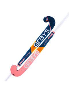 Grays 100i zaalhockeystick UB MC Navy/oranje/roze