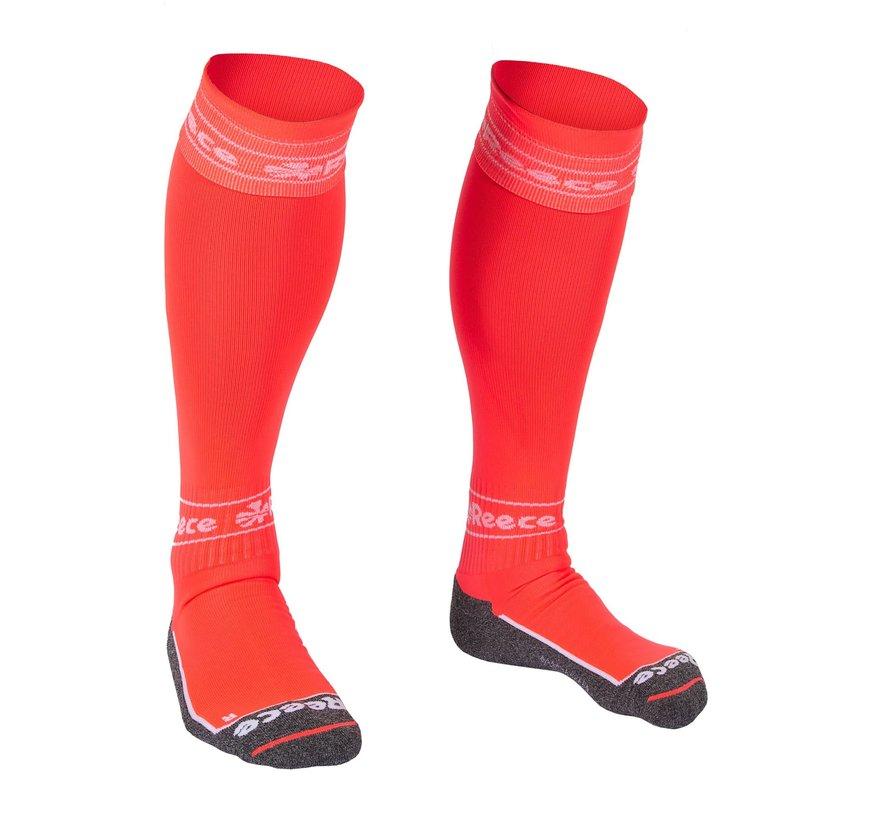 Surrey Socks Neon Coral/White