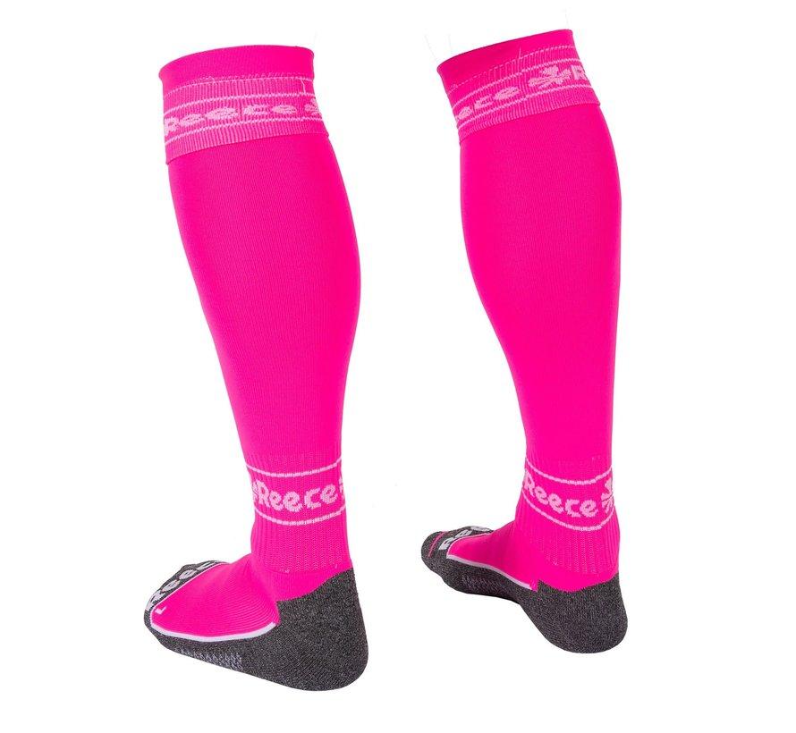 Surrey Socks Neon Pink/White