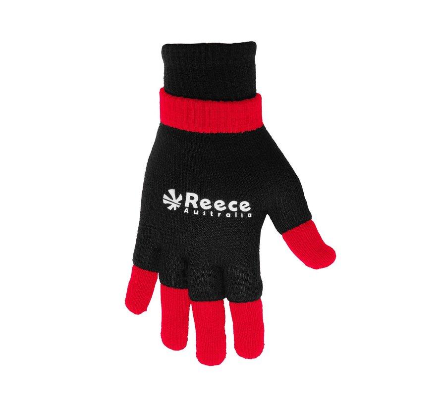 Knitted Ultra Grip Handschuh 2 in 1 Schwarz/Rot