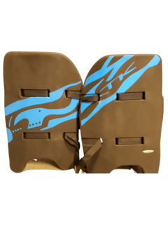 TK T1 Legguards Zwart/Blauw