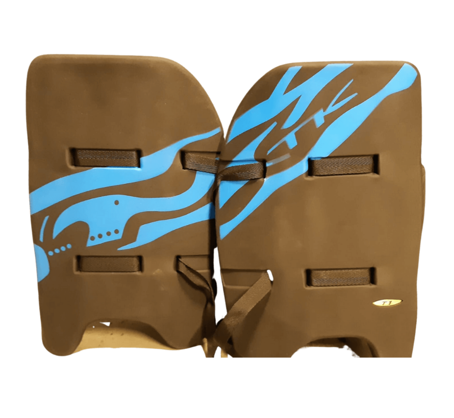 T1 Legguards Black / Blue