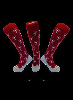 Hingly Hockey Socke Wein Bordeaux Rot