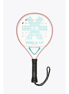 Osaka Padel Racket Deshi Kids Tyro Frame Wit/Aqua/Rood