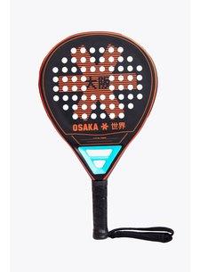 Osaka Padel Racket Vision Power Frame Zwart/Oxy Red/Aqua