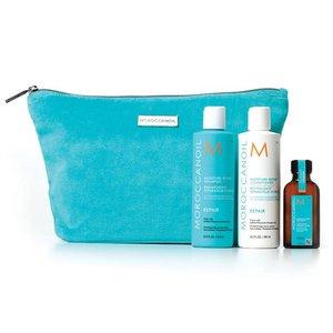 MOROCCANOIL® Moisture Repair Shampoo + Conditioner + Treatment + Tasche