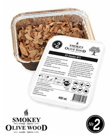 Smokey Olive Wood Smoking chips Nº2 EZ-Smoker (1x 400 ml)