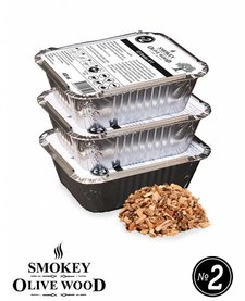 Smokey Olive Wood Smoking chips Nº2 EZ-Smoker (3x 400 ml)