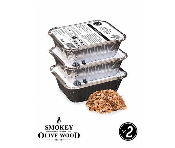 Smokey Olive Wood Smokey Olive Wood Smoking chips Nº2 EZ-Smoker (3x 400 ml)