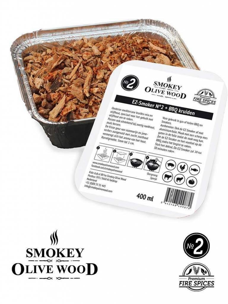 Smokey Olive Wood Smokey Olive Wood EZ-Smoker Nº2 Olijfhout +Vuurkruiden - 400 ml