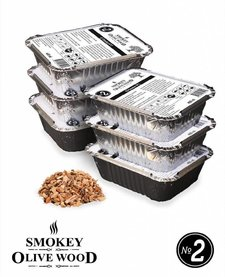 Smokey Olive Wood Smoking chips Nº2 EZ-Smoker (6x 400 ml)